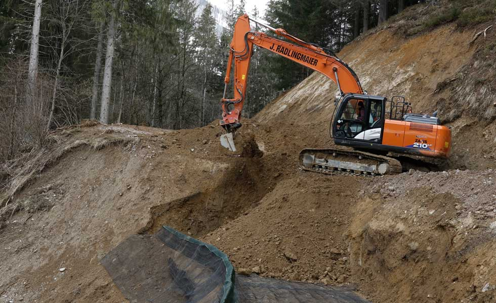 Hangsicherung Bauunternehmen Radlingmaier Eisenerz, Leoben, Liezen, Murtal