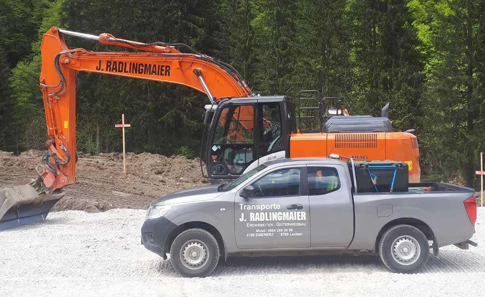 Erdbau Bauunternehmen Radlingmaier Eisenerz, Leoben, Liezen, Murtal