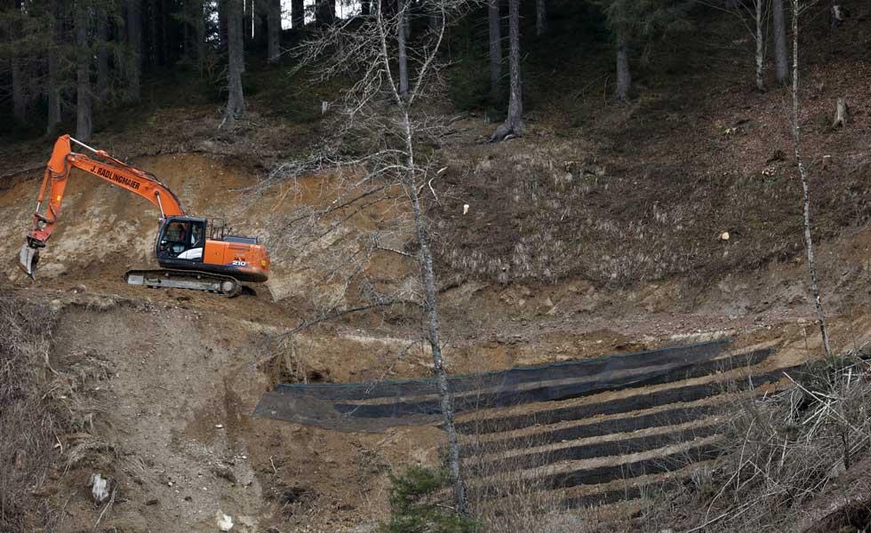 Güterwegebau mit bewehrter Erde Radlingmaier in Leoben