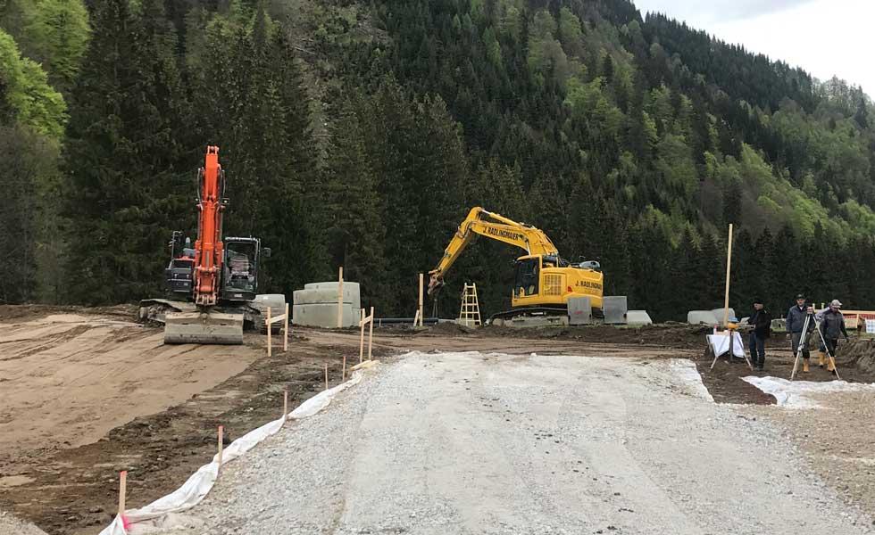 Planierarbeiten Bauunternehmen Radlingmaier Eisenerz, Leoben, Liezen, Murtal