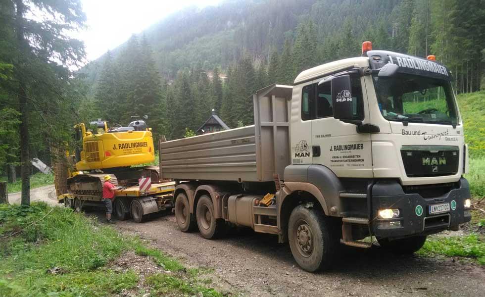 Baggertransport Steiermark Radlingmaier Leoben, Murtal