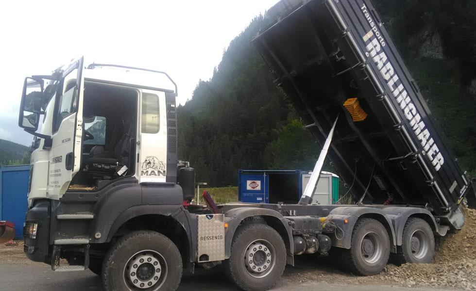 Radlingmaier Transportunternehmen - LKW 4-Achser und Thermomulde in Leoben, Liezen und Eisenerz