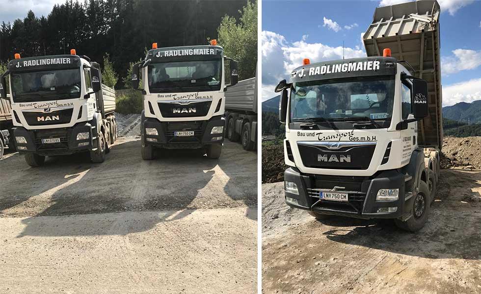 Radlingmaier Transportunternehmen - LKW-Transport in Leoben, Liezen und Eisenerz