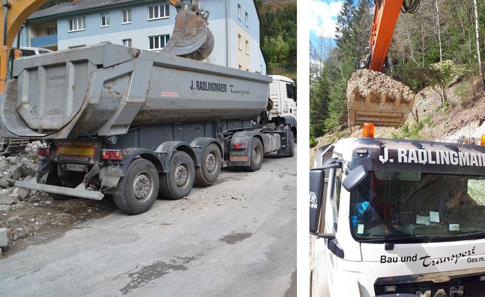 Radlingmaier Transportunternehmen - LKW und Baggerarbeiten in Leoben, Liezen und Eisenerz