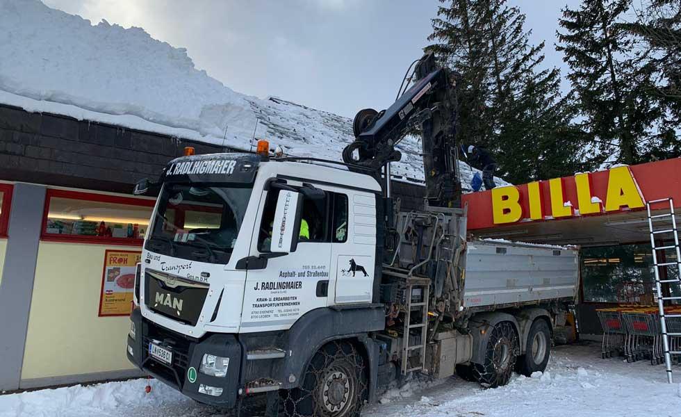 Radlingmaier Transportunternehmen - LKW 3-Achser mit Kran in Leoben, Liezen und Eisenerz